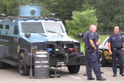 The police showed off their armored car